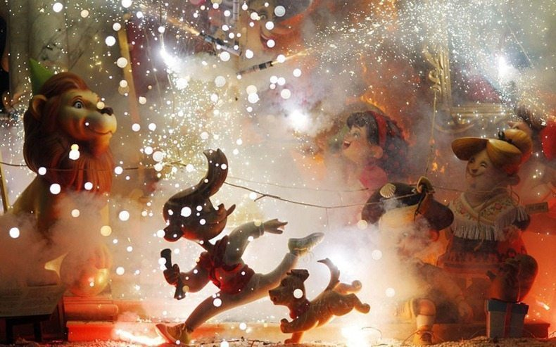 Fire and giant figures Festival  in Valencia