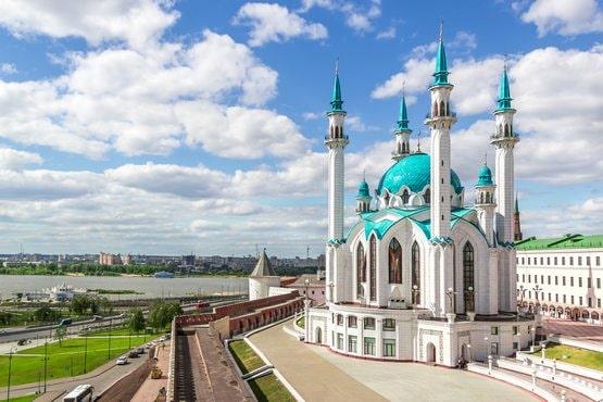 Paisaje con Mezquita de Kazan